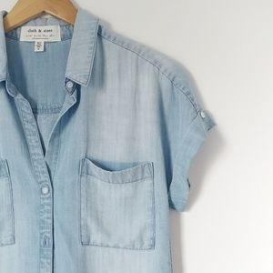 Anthropologie || Cloth & Stone Denim Button Down